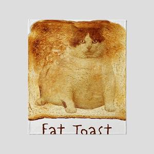 2-FatToastFront Throw Blanket