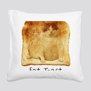 2-FatToastFront Square Canvas Pillow