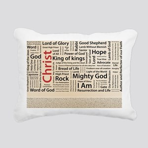 100 names of Jesus Ameri Rectangular Canvas Pillow