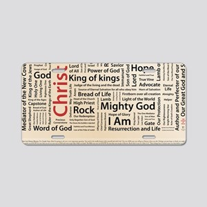100 names of Jesus American Aluminum License Plate