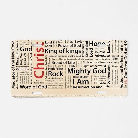 100 names of Jesus American Aluminum License Plate