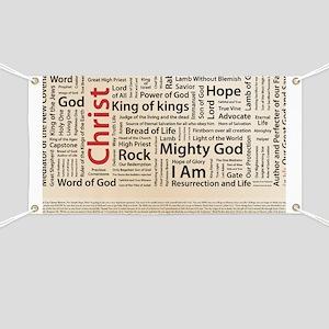 100 names of Jesus American Spelling 200 Banner