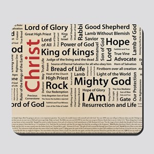 100 names of Jesus American Spelling 200 Mousepad