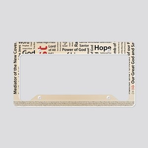 100 names of Jesus American S License Plate Holder