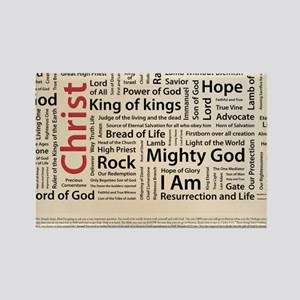 100 names of Jesus American Spell Rectangle Magnet