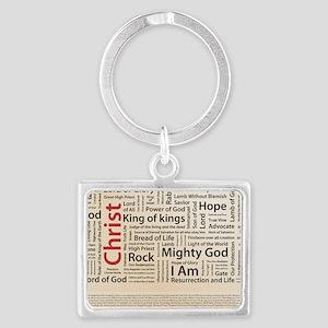 100 names of Jesus American Spe Landscape Keychain