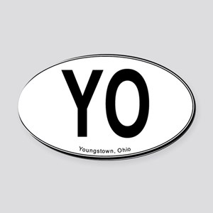 Youngstown YO Oval Oval Car Magnet