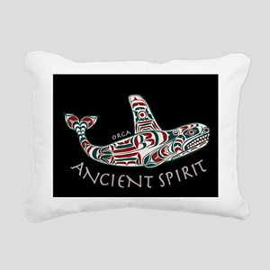 214mp AncntSpirit Orca  Rectangular Canvas Pillow