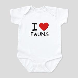 I love fauns Infant Bodysuit