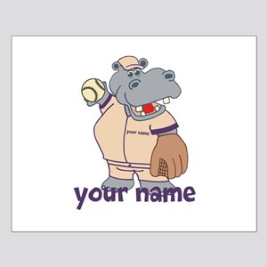 Personalized Baseball Hippo Posters