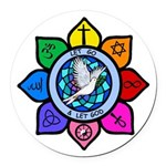 LGLG-All Religions Round Car Magnet