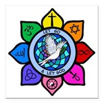 LGLG-All Religions Square Car Magnet 3
