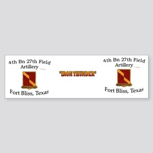 4th Bn 27th FA Mug Sticker (Bumper)