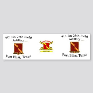 4th Bn 27th FA Mug1 Sticker (Bumper)