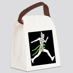 Running Poster Canvas Lunch Bag