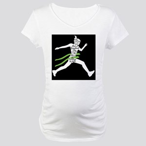 Running Poster Maternity T-Shirt