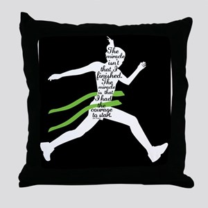 Running Poster Throw Pillow