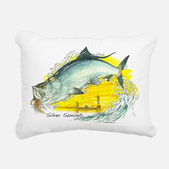 2-SF-006Silver Rectangular Canvas Pillow