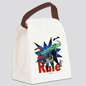 Zombies Rule Canvas Lunch Bag