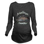 Walleye hunter Long Sleeve Maternity T-Shirt