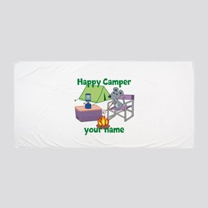 Custom Happy Camper Mouse Beach Towel