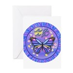 LGLG-Butterfly (purp) Greeting Card