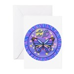 LGLG-Butterfly (purp) Greeting Cards (Pk of 20)