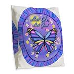 LGLG-Butterfly (purp) Burlap Throw Pillow