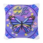 LGLG-Butterfly (purp) Woven Throw Pillow