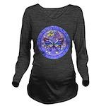 LGLG-Butterfly (purp) Long Sleeve Maternity T-Shir