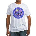 LGLG-Butterfly (purp) Fitted T-Shirt