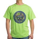LGLG-Butterfly (purp) Green T-Shirt