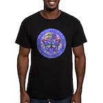 LGLG-Butterfly (purp) Men's Fitted T-Shirt (dark)