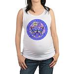 LGLG-Butterfly (purp) Maternity Tank Top