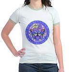 LGLG-Butterfly (purp) Jr. Ringer T-Shirt