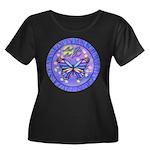 LGLG-Butterfly (purp) Women's Plus Size Scoop Neck