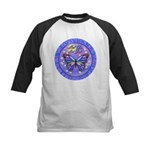 LGLG-Butterfly (purp) Kids Baseball Jersey