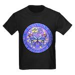 LGLG-Butterfly (purp) Kids Dark T-Shirt