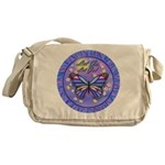 LGLG-Butterfly (purp) Messenger Bag