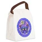 LGLG-Butterfly (purp) Canvas Lunch Bag