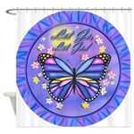 LGLG-Butterfly (purp) Shower Curtain