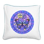 LGLG-Butterfly (purp) Square Canvas Pillow