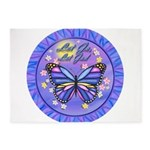 LGLG-Butterfly (purp) 5'x7'Area Rug