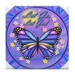 LGLG-Butterfly (purp) Tile Coaster