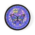 LGLG-Butterfly (purp) Wall Clock