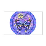 LGLG-Butterfly (purp) 20x12 Wall Decal