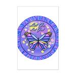LGLG-Butterfly (purp) Mini Poster Print
