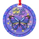 LGLG-Butterfly (purp) Round Ornament