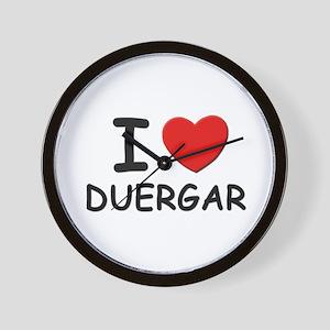 I love duergar Wall Clock