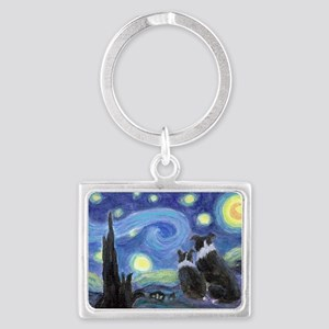Starry Night hr Landscape Keychain